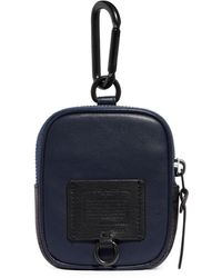 COACH Hybrid Pouch 8 With Signature Canvas Blocking - Blue