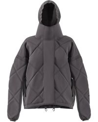 adidas By Stella McCartney Diamond Quilted Short Puffer Coat - Gray