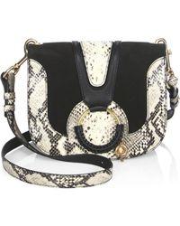 See By Chloé - Hana Python Leather Shoulder Bag - Lyst