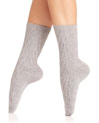 Ilux | Demi Cable Ankle Socks | Lyst