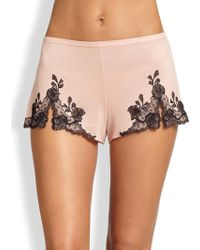Natori - Josie Charlize Lace Embroidered Tap Shorts - Lyst