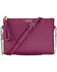 Gigi New York - Hailey Embossed Crossbody Bag - Lyst