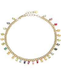 SHAY - Rainbow 18k Gold Mixed Gemstone & Diamond Choker Necklace - Lyst