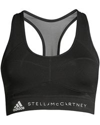 adidas By Stella McCartney Essential Recycled Polyester Sports Bra - Black