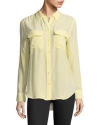Equipment | Slim Signature Silk Shirt | Lyst