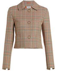 Akris Punto Glen Check Cropped Jacket - Multicolor
