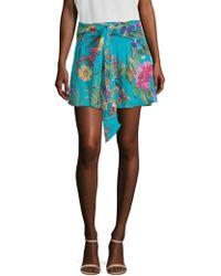 Parker - Bridgette Floral-print Mini Skirt - Lyst