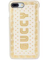 Gucci Sega Print Iphone 7/8+ Leather Case - White