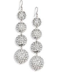 Kenneth Jay Lane - Four-ball Crystal Drop Earrings - Lyst