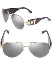 Versace - Men's 62mm Aviator Sunglasses - Gold White - Lyst