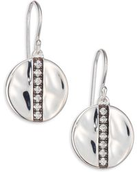 Ippolita - Glamazon Stardust Diamond & Sterling Silver Medium Disc Drop Earrings - Lyst