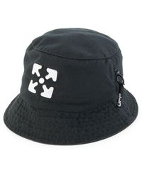 Off-White c/o Virgil Abloh Logo Bucket Hat In Black