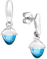 Tamara Comolli - Mikado Flamenco 18k White Gold & Swiss Blue Topaz Acorn Earrings - Lyst