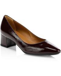 Aquatalia - Pasha Point Toe Patent Leather Court Shoes - Lyst