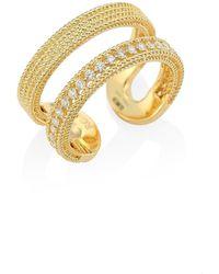 Roberto Coin Double Symphony Diamond & 18k Yellow Gold Ring - Metallic