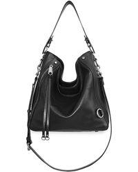 Rebecca Minkoff Mab Leather Hobo Bag - Black