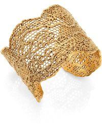 Aurelie Bidermann - Vintage Lace Cuff Bracelet - Lyst