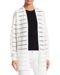 Saks Fifth Avenue - Collection Sheer Striped Open Cardigan - Lyst