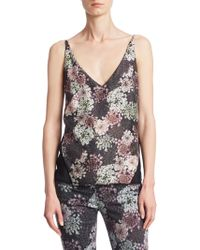 J Brand - Lucy Floral-print Silk Camisole - Lyst