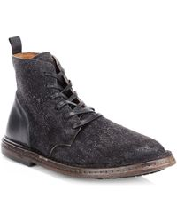 John Varvatos - Venice Suede Lace-up Boots - Lyst