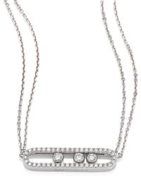 Messika | Move Pave Diamond & 18k White Gold Necklace | Lyst