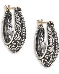 Konstantino | Penelope Sterling Silver Filigree Hoop Earrings/1 | Lyst
