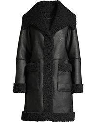 Elie Tahari Rosie Faux - Shearling Coat - Black