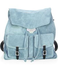 Rag & Bone - Indigo Suede Field Backpack - Lyst