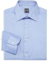 Ike Behar William Cotton Dress Shirt - Blue