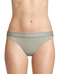CALVIN KLEIN 205W39NYC Stretch Bikini Briefs - Gray