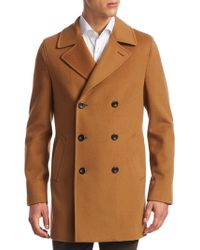 Saks Fifth Avenue - Collection Double-breasted Peacoat - Lyst