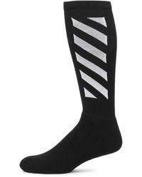 Off-White c/o Virgil Abloh Logo Knee-high Socks - Black