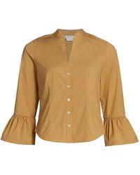 Veronica Beard Bab Flared-cuff Shirt - Multicolor