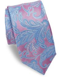 Ike Behar - Pink Paisley Silk Tie - Lyst