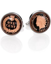 David Donahue Authentic Indian Head Coin Cuff Links - Black