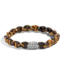 John Hardy - Batu Classic Sterling Silver And Tiger's Eye Bracelet - Lyst