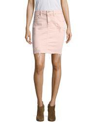 AG Jeans - Erin Pencil Vinte Distressed Skirt - Lyst