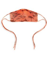 Significant Other Sunset Pleated Face Mask - Red