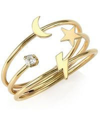 Zoe Chicco 14k Yellow Gold Diamond Symbol Ring