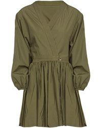 Bassike Bubble Wrap Dress - Green