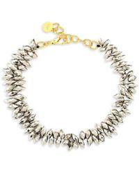 Nest 22k Goldplated Pyrite Statement Necklace - Metallic