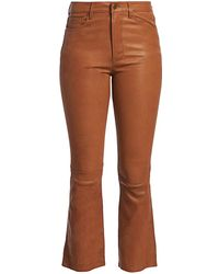 FRAME Le Cropped Leather Mini Boot - Brown