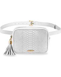 Gigi New York Kylie Python-embossed Leather Belt Bag - White