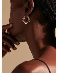 John Hardy Bamboo Sterling Hoop Earrings - Metallic