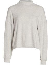 Hudson Jeans Mock Turtleneck Sweater - Gray