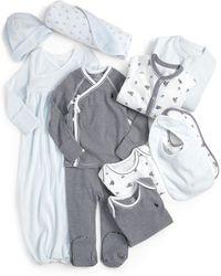 Ralph Lauren Infant's 11-piece Coverall, Gown, Kimono, Footed Pants, Bodysuits, Bib, Hat & Blanket Set - Multicolour