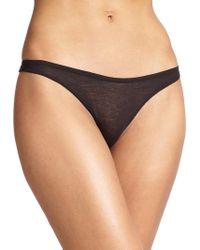 Skin - Organic Pima Cotton Thong - Lyst