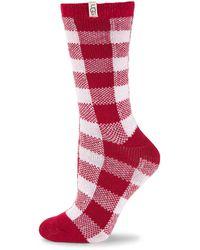 UGG Vanna Check Socks - Red