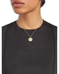 Sydney Evan 14k Gold & Diamond Bee Coin Pendant Necklace - Metallic