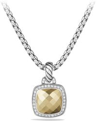 David Yurman - Albion Pendant With Faceted 18k Yellow Gold Dome And Diamonds - Lyst